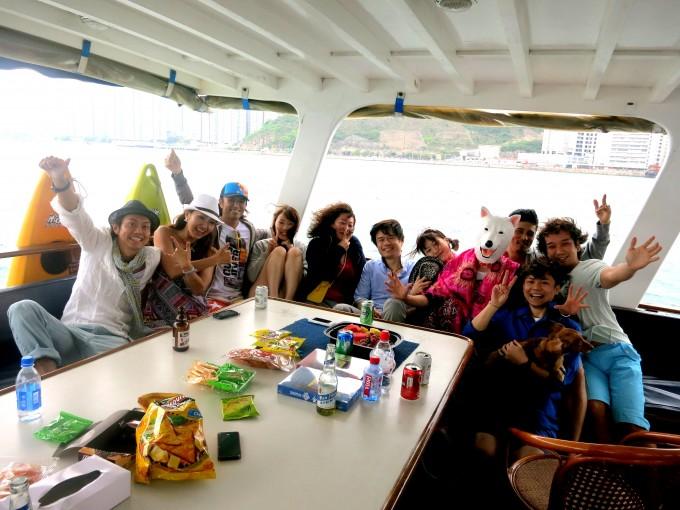 香港ボートパーティー4|原田陽平の香港生活